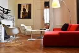 Salon maison d'hôtes design l'autre rives à albi