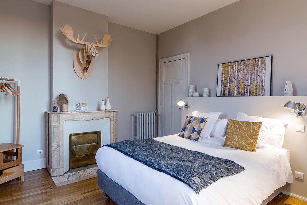 Chambre Scandinave - L'Autre Rives, maison d'hôtes design à Albi