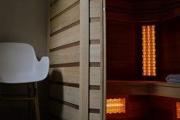 Sauna de la maison d'hôtes design l'autre rives à albi