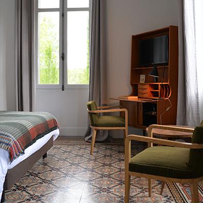 Image de présentation de la chambre vintage de la maison d'hôtes design l'autre rives à albi