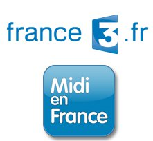 logo de l'émission midi en france sur france 3 sur le site de la maison d'hôtes design l'autre rives à albi