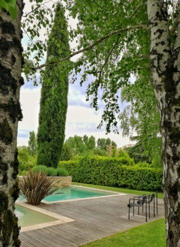 jardin de la maison d'hôtes l'Autre Rives à Albi